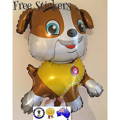 Large PAW PATROL BALLOONS Rubble Toys BIRTHDAY PARTY SUPPLIES AUS SELLER  Free