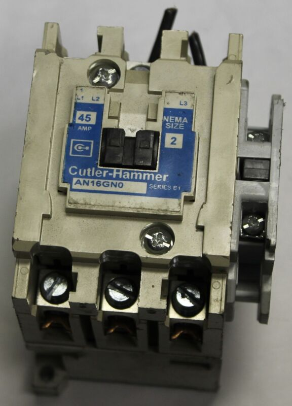 CUTTLER HAMMER CONTACTOR MODEL: AN16GN0 NEMA SIZE 2
