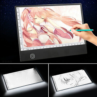 A5 USB LED Artist Tattoo Stencil Board Light Box Tracing Dra