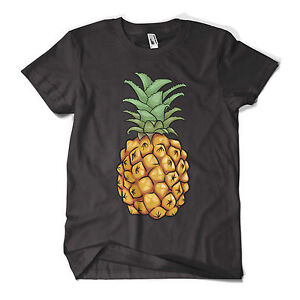 Pineapple-T-Shirt-Fashion-Print-Indie-Hipster-Urban-Design-Mens-Girls-Tee-New