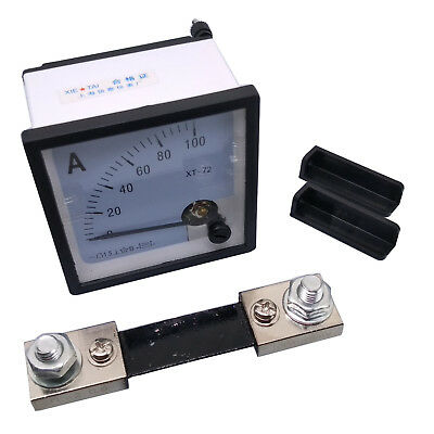 Us Stock Dc 0 100a Analog Amp Current Needle Panel Meter Ammeter Xt-72 Shunt