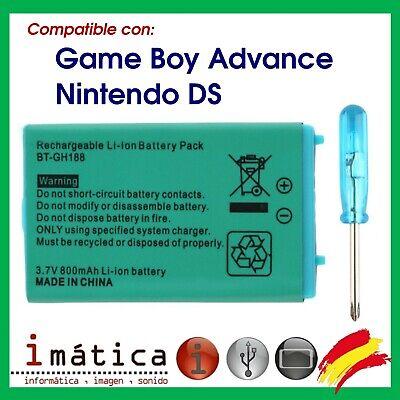 BATERIA PARA NINTENDO DS CLASICA / GAME BOY ADVANCE SP 3.7v 800mAh...