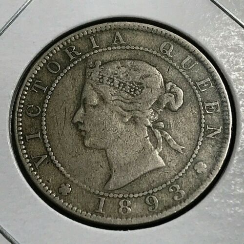1893 JAMAICA ONE LARGE PENNY BETTER COIN