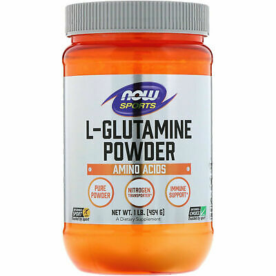 Now Foods Sports L-GLUTAMINE Powder 1 lb, 454g BUILD MUSCLE, IMMUNE -
