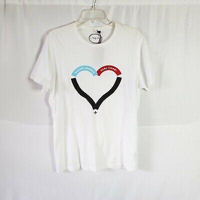 Commune de Paris Heart White Short Sleeve Tee Size L