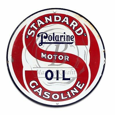 Vintage Design Sign Metal Decor Gas and Oil Sign - Standard Polarine...
