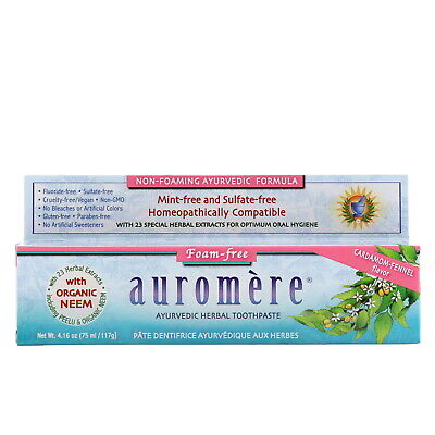 Ayurvedic Herbal Toothpaste, Foam-Free, Cardamom-Fennel Flavor, 4.16 oz (117 -