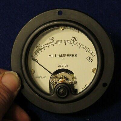 Vintage Weston Electrical Milliamperes R.f. Gauge Model 425 Exc Cond - See Pics