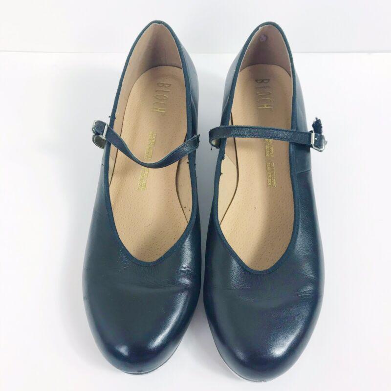 Bloch Techno Tap Shoes Black Leather 10.5 Woman Dance Shoes