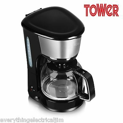 Tower T13001 10 Cup Coffee Percolator 1.25L in Black