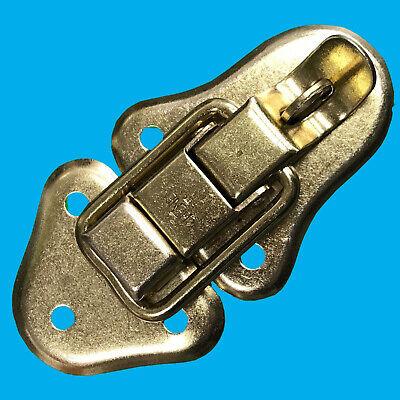 2 latches keys  Fender  W// Rivets Cheney Style BRASS Guitar case Locks TWO