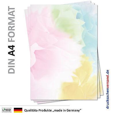 25 Blatt Motivpapier-5098 DIN A4 bunt farbiges abstraktes Muster Briefpapier