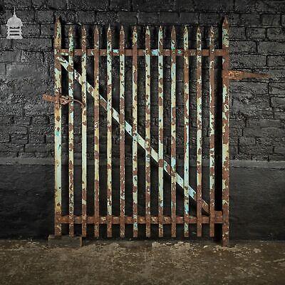 19th C Spike Top Wrought Iron Single Garden Gate