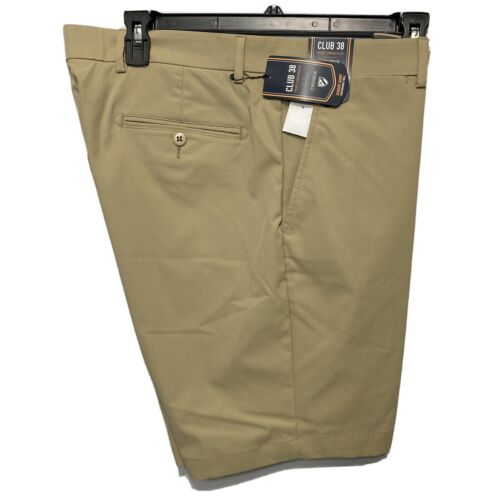 Cremieux Mens Performance Atwood Khaki Shorts 36 Flat Front Golf Stretch Clothing, Shoes & Accessories