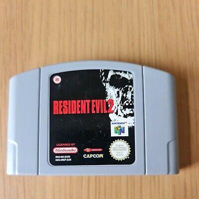RESIDENT EVIL 2 NINTENDO 64 N64 PAL GAME CARTRIDGE ONLY FREE P&P