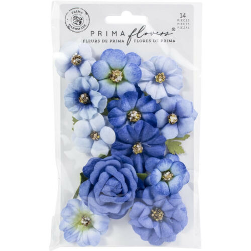 Prima Marketing Mulberry Paper Flowers NATURE LOVER / BLUE RIVER 653002