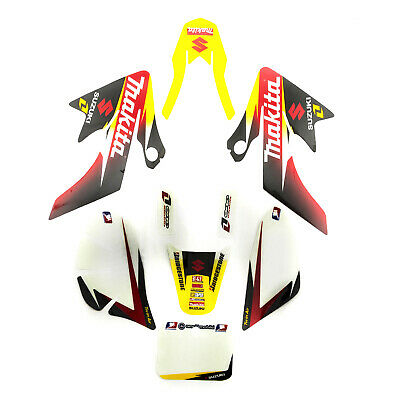 Pit Dirt Bike CRF50 Makita Suzuki Plastics Stickers Graphics 110cc 120cc 125cc