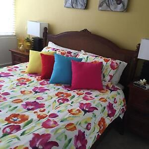 Queen bed frame and mattress Central West Area Preview