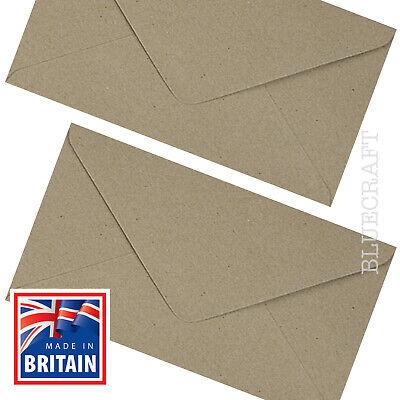 "DL Vintage Brown Recycled Fleck Kraft Envelopes - 8.6 x 4.3""  10, 25, 50 & 100's"