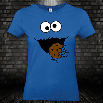 Krümelmonster Cookie Monster Keks Monster Kostüm Karneval Fasching Damen XS-3XL