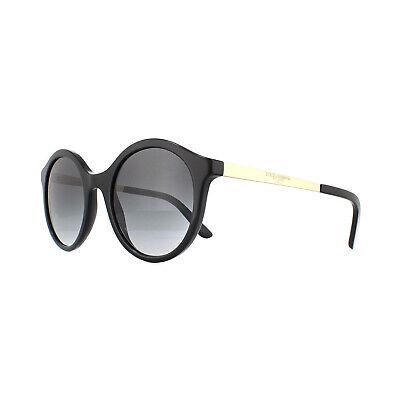 Dolce & Gabbana Sunglasses DG4358 501/8G Black Gold Gray Gradient