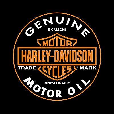 Harley Davidson Oil Vinyl Banner Flag Sign Garage Man Cave Shop Black 36x36