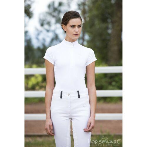 Horseware Ladies Sara Competition Short Sleeve Shirt - White - Choose Size