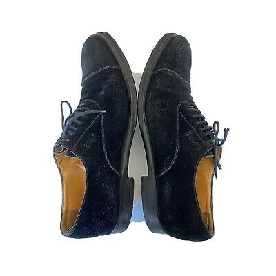 Gucci Men's  Black Suede Leather Oxford Shoe Size 8 or 8.5 fits