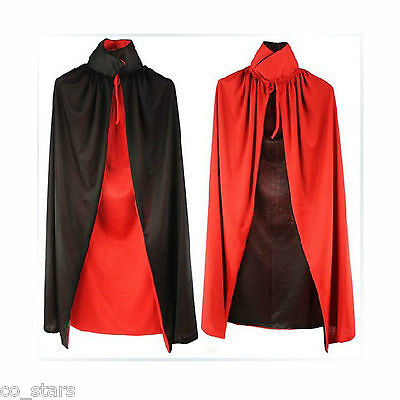 Halloween Black Red Dracula Devil Cloak Fancy Costume for Kids Vampire Cape UK - Halloween Devil Costume For Kids