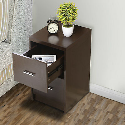 Espresso Storage Cabinet With 2 Drawers Lateral Letter For Home Office Modern