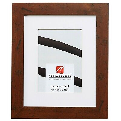 Craig Frames FM26WA 10x13 Brown Picture Frame Matted to Disp