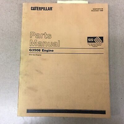 Cat Caterpillar G3508 Parts Manual Book Catalog Engine Natural Gas 2tj1 Up List