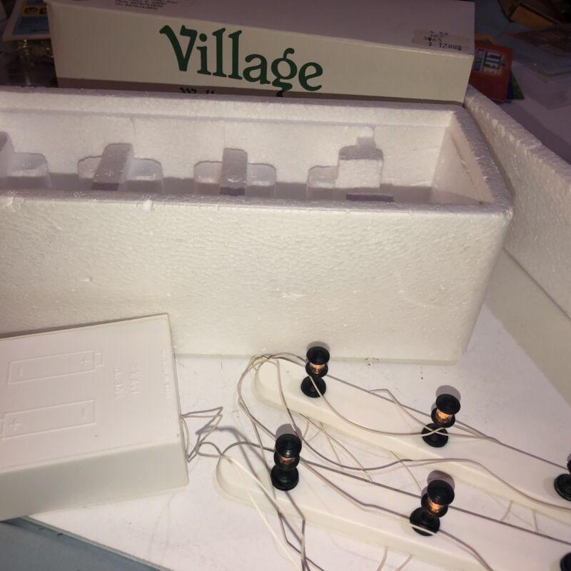 Department 56 Village Walkway Lights nice in box works