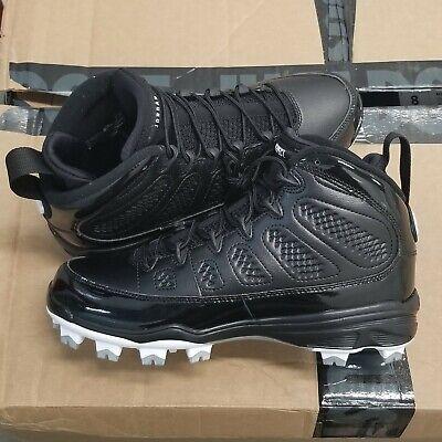 Nike Air Jordan 9 IX Retro MCS Black White Re2pect Baseball Cleats  - Black White Jordans