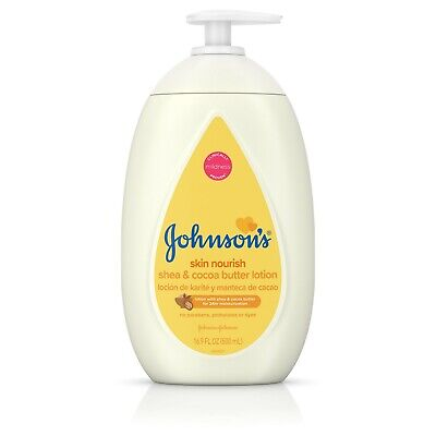 Johnson's Dry Skin Baby Lotion with Shea & Cocoa Butter, 16.9 fl. oz (Baby-lotion Shea)