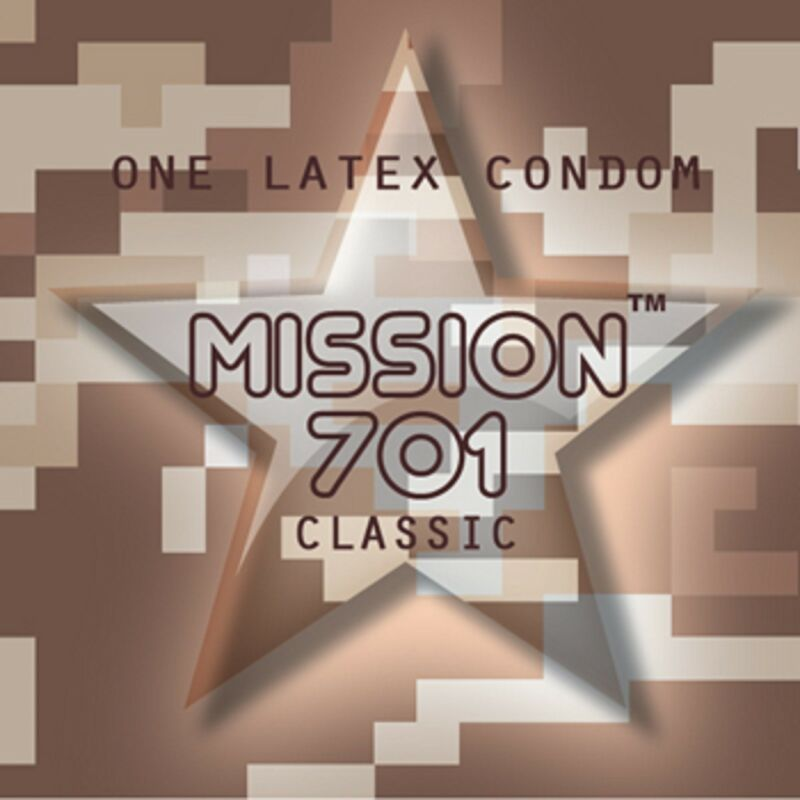 100 PIECES PACK.CAUTION WEAR.MISSION 701, STRAIGHT WALLET LATEX CONDOMS.
