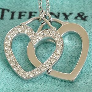 Tiffany & Co Diamond 0.23ct Double Heart Pendant Necklace $2950 Melbourne CBD Melbourne City Preview