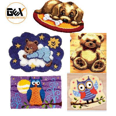 GEX Latch Hook Kits Rugs DIY Craft Needle Cute Animals Puppy Owl Rugs 20