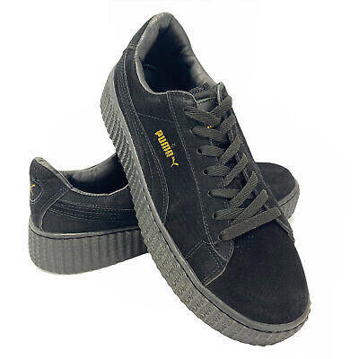 Puma x Rihanna Fenty Womens Shoe 9 Black Suede Platform Creeper Limited Edition