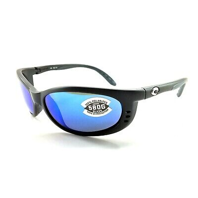 b97ad5de25f9 NEW Costa del Mar Fathom Matte Black Frame / Blue Mirror 580G Lens FA 11  OBMGLP