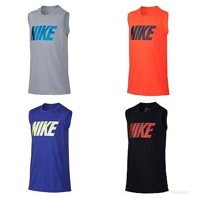 Boys Muscle Tee - NWT Boy's Nike Legacy Muscle Tee Shirt