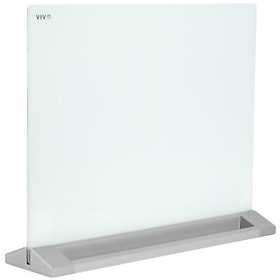 Vivo Glass Dry Erase Board Desktop Divider 23 X 19 Whiteboard Partition