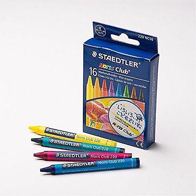 16pc Staedtler Kids Art Colouring Break Resistant Wax Crayons Assorted Colours
