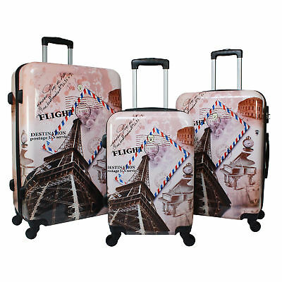- World Traveler Paris Collection 3-Piece Hardside Spinner Luggage Set