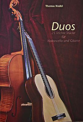 Duos - 25 leichtere Stücke für Violoncello und Konzertgitarre - NEU+OVP
