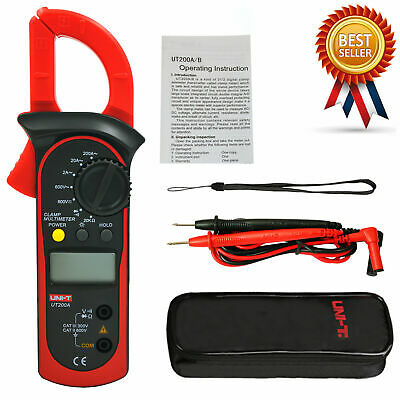 Uni-t Ut200a Digital Clamp Multimeter Ac Current Acdc Voltage Resistance Teskd