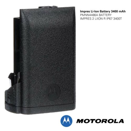 MOTOROLA - PMNN4486A - IMPRES 2 Li-Ion R IP68 Battery, 3400mAh for APX Portables