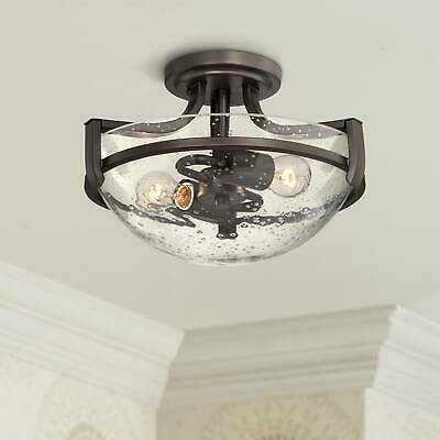 Modern Ceiling Light Semi Flush Mount Fixture Bronze 13