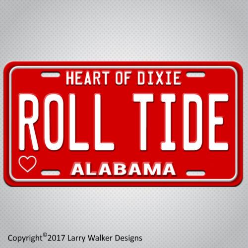 ALABAMA ROLL TIDE Aluminum License Plate Tag New