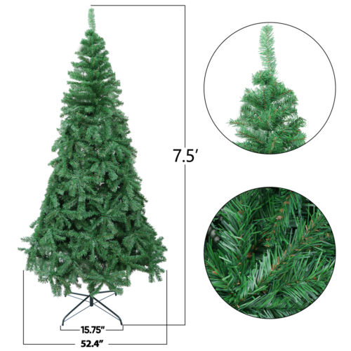 7.5ft Artificial Holiday Christmas Tree for Home Party Decoration with Base Christmas Trees